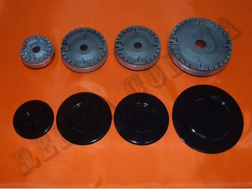 Набор горелок с крышками для газ. плиты Гретта 2008-2011