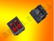Переключатель двойной KCD3-2-202