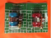 Заправочная муфта QC-L+QC-H автокондиционерная с краном
